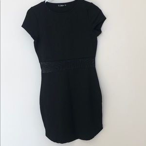 Shein black bodycon dress with mesh in the middle